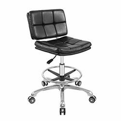 Adjustable Stools Drafting Chair With Backrest And Foot Restpeneumatic Lifting ...