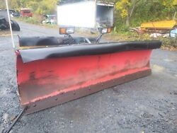 Heavy Duty Power Angle / 10and039 Ft / Complete Snow Plow / Hydraulic / Truck Tractor