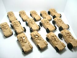 Processed Plastic Armored Car Tank Division 14 New Pieces.no. 7190