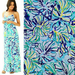 Auth Lilly Pulitzer Soft Rayon Fabric Pool Blue Stay Cool By The Yard