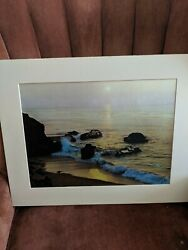 Aesthetic Impressions 1980 3 D Beach Print Poster 15.5 x 11.5 Lot WS 5435 $35.00