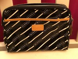 COACH COSMETIC BAG CLUTCH BEAUTIFUL LAMINATED EXCELLENT $20.00