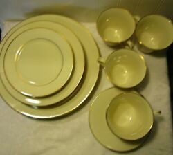Hayworth By Lenox China, Set For 4 Minus One Bb Plate, 19 Pieces, Lot R11