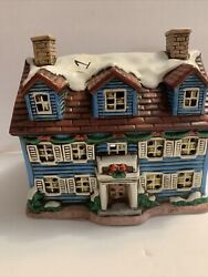 Lefton Colonial Christmas Village The Welcome House 05824 W/ Lights From 1986, 1