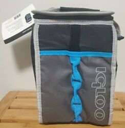 Igloo Transit Lunch Cooler Bag Expandable Lunch Box 4897352 Blue Black PVC Free $9.99
