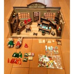 Sylvanian Families Grocery Shop Epoch Japan Retired Rare Calico Critters