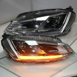 Gti Style 2014-2018 Year Led Front Lamps For Vw Golf 7 Mk7 Led Turn Lights