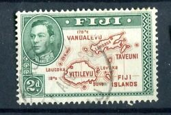 Fiji Kgvi 1938-55 2d Brown And Green 'extra Line' Die I P13.5 Sg253a Used