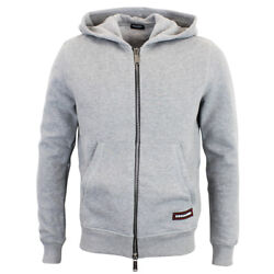 Dsquared2 - Full Zip Hoodie In Grey - Size L - Rrp £395