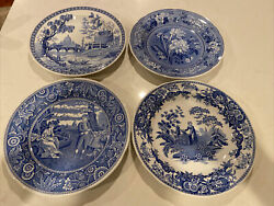 Spode Blue Room Collection 10 1/2 Plate Rome Botanical Girl At Well Woodman