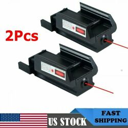 2pack Red Dot Laser Sight Low Profile Picatinny Rail 20mm For Rifle Pistol Gun