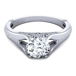Natural Diamond Wedding Ring Round Cut 0.80 Ct 18k Solid White Gold Size L M N/2
