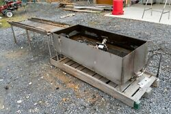 Custom Stainless Parts Dipping Tank With Drain Off Table, Pump, And Heating Pad