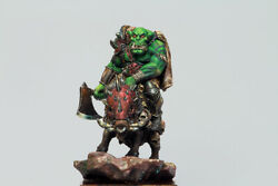 Orc On Boar Painted Toy Fantasy Miniature Pre-sale | Museum
