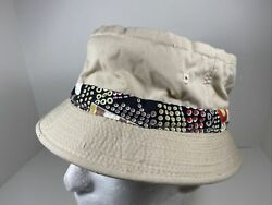Vintage Rare Easy To Roll Bucket Fishing Hunting Hat Crushable Size L Beach $24.95