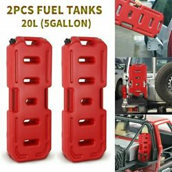 2x 20l 5gallon Fuel Tanks Gas Can Oil Petrol Container Pack For Jeep Atv Utv Rzr
