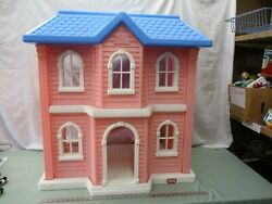 Little Tikes My Size Pink Mansion House Home Doll Figure Play Furniture Blue Toy