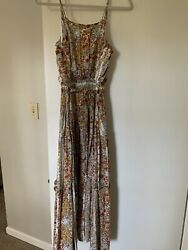 Free People Floral Maxi Dress Bohemian Hippie Small S
