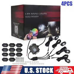 4 Pods Rgb Led Rock Lights Offroad Truck Underglow Lamps For Ford F150 F250 F350