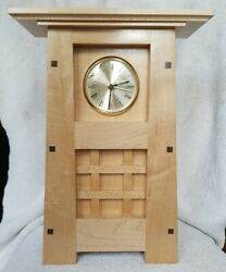 Arts And Crafts/ Mission Style Mantle Clock New Handmade Solid Maple