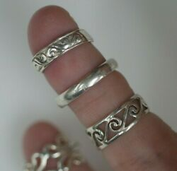 925 Sterling Silver Toe Rings - Set Of 5  Ac-1433