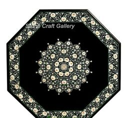 48 Marble Center Dining Table Top Pietra Dura Inlay Handmade Floral Work Decor