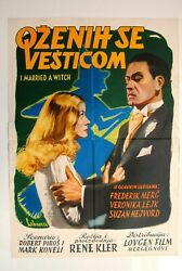 I Married A Witch Susan Hayward 1942 Fantasy F.march Veronica Lake Movie Poster