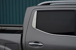 Chrome Rear Window Trim Accent Cover To Fit Nissan Navara Np300 2015