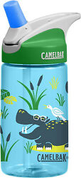 Camelbak Kids Hip Hippos Water Bottle New 4 Charity Green and Blue Free Ship
