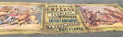 Sideshow Banner Circus Carnival Hanging Canvas Sign Prop Lions Emperor 188x 58