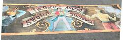 Sideshow Banner Circus Carnival Hanging Canvas Sign Prop Sword Swallower