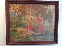Original Signed Watercolor By Vsevolod Ulianoff Listed American Russian Artist