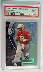 High End Psa 9 Pop 1 Tom Brady 2000 Rookie Absolute Playoff Players Honors 7/10