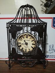 Wire Cage Bufferfly Clock. Poirot And Germain Saint Croix Paris
