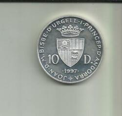 Andorra 10 Diners 1997. World Football Cup. Silver Coin. 8rw 22set