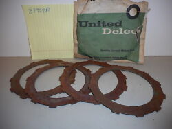 61 - 73 Chevy Powerglide Set Of Four Transmission Clutch High Drive Plates Nos
