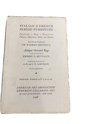 1936 Auction Catalog Italian And French Period Furniture -antique Oriental Rugs