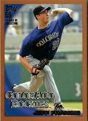 JEFF FRANCIS 2010 Topps Bronze Border #406 *RARE CARD* Serial # 163 399
