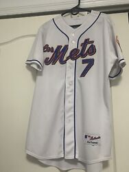 Los Mets Jose Reyes Rare Mlb Authentic Collection Majestic Jersey Size 48