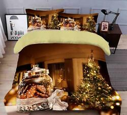 3d Bottle Biscuits O092 Christmas Quilt Duvet Cover Xmas Bed Pillowcases Fay