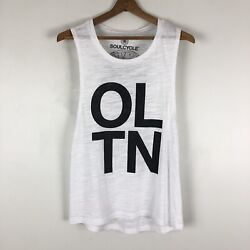 Soulcycle Old Town Chicago Soul Cycle Tank White Black Initials Print 0422