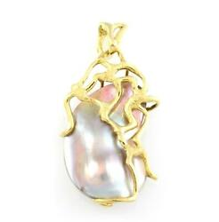 Charm Pendant Woman Gold 750 ‰ And Pearl Mabe '