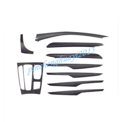 9pcs Real Carbon Fiber Style Car Inner Kit Cover Trim For Bmw X5 F15 2014-2018