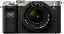 Sony Alpha 7c Full-frame Compact Mirrorless Camera With 28-60mm Lens - Silver