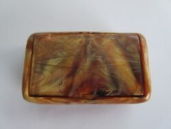 Vintage Bex Made In England Bakelite Catalin Moulded Star Fish Design Snuff Box