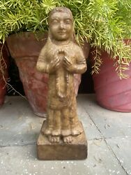 17th Ancient Marble Stone Hand Carved Hindu Goddess Figure Sculpture Statue
