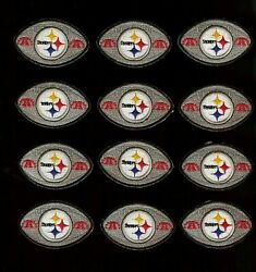 12 Nfl Pittsburgh Steelers Nfl Iron-on Patches.mint.lot.fast Ship.1970's Afc