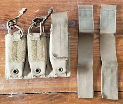 Firstspear Pistol 3 Mag Shingle 6/9 Molle Belt Coyote Brown Triple Pouch Pocket