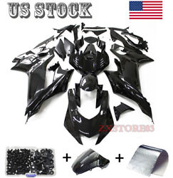 Glossy Black Fairing Kit For Yamaha Yzf R6 2017-2020 Injection Body Work + Bolts