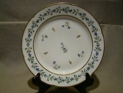 Early English Antique Porcelain 9+ Plate Decorated In The French Taste C. 1795